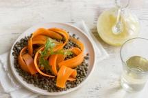 Čočkový salát s mrkví