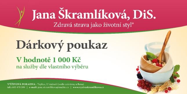 Dárkový poukaz, výživová poradna, Jana Škramlíková
